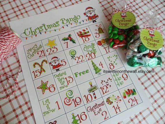 12 Christmas Bingo Game  12 Unique Sheets-For Family and Friend Christmas Parties