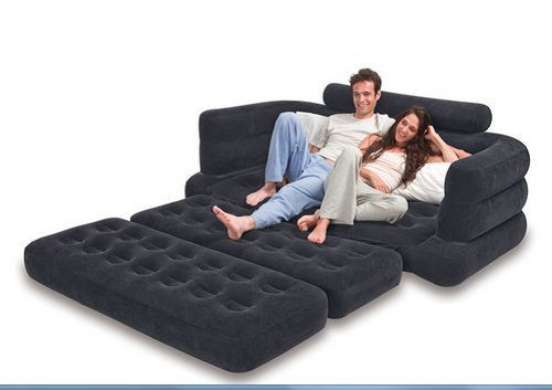 Sleeper Sofa Couch Sectional Futon Living Room Furniture Bed Loveseat #Intex