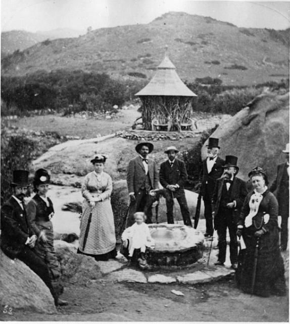 Mineral Springs at Manitou Springs, Colorado,  1872-1880 by  Byron H.Gurnsey.  From Pikes Peak Library District