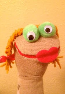 DIY sock puppets...sock Muppet puppets...for our Spring performance of a Muppets song ;)... Could use Pom poms for big eyes like muppets!