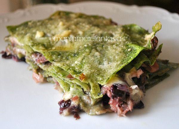 Le lasagne verdi condite con radicchio rosso e speck, sono un piatto originale ma molto semplice e veloce da realizzare Scopri la ricetta cliccando sul link