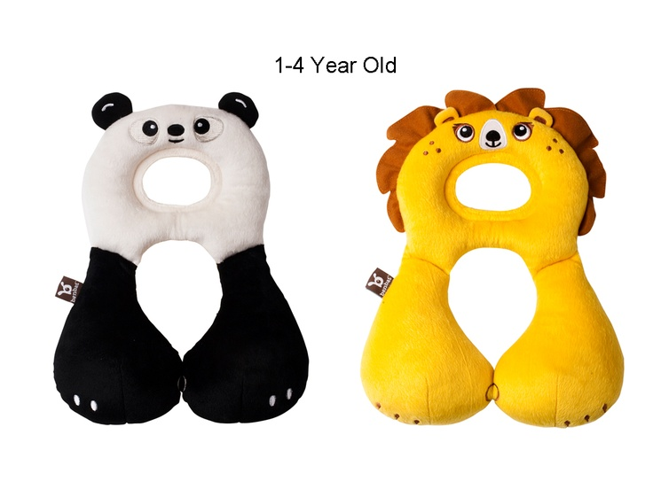 Animal Friends Head & Neck Support Pillows. Different sizes for kids 1 month - 8+ years
