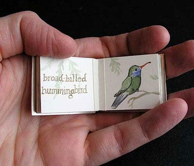 Laura Davidson's miniature handmade book.  You could make this book if you watch DIY book binding tutorials on Pinterest.