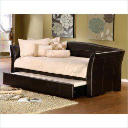 Superb Vegan Home Decor... Hillsdale Montgomery Daybed In Brown Faux Leather With  Trundle