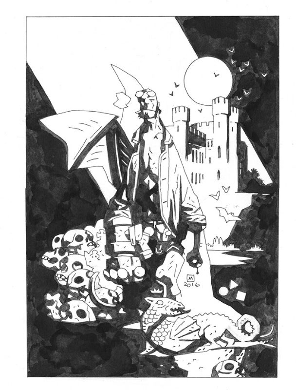 Mike Mignola Hellboy Comic Art