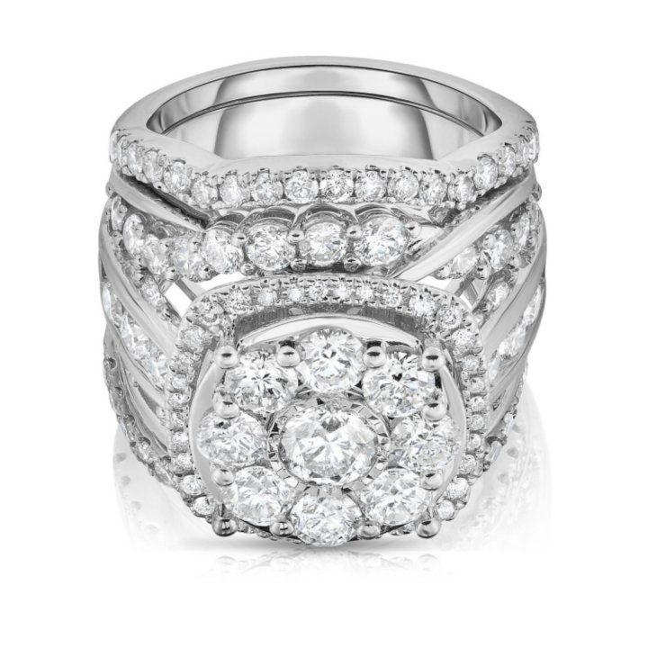 4 95 Ct T W Single Center Engagement Ring In 14k White Gold Sam S Club White Gold Engagement Rings 14k White Gold