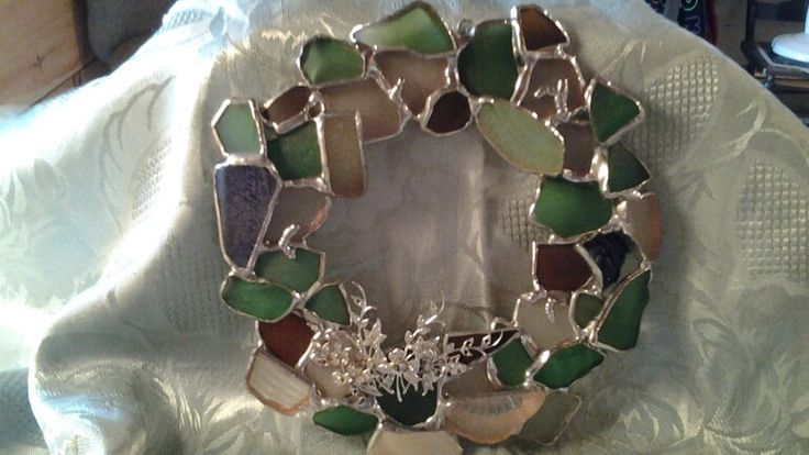 Suzanne muir sea glass wreath