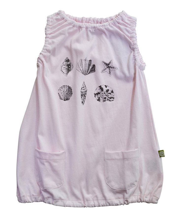Take a look at this Pink Shells Noemi Organic Dress - Infant, Toddler & Girls today!