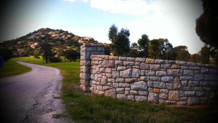 Stone enterance gate to Pyramid Hill Reserve, Pyramid Hill  www.mawsons.com.au