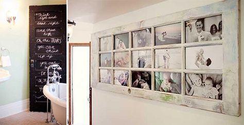 Idee per riciclare vecchie porte e finestre