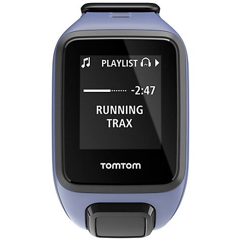 Buy TomTom Spark Cardio & Music GPS Fitness Watch, Purple Haze, Small Online at johnlewis.com