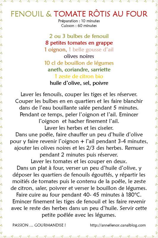 Fenouil & tomate rôtis au four_fiche