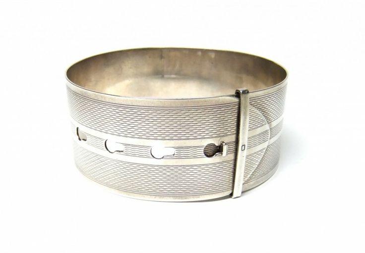 silver buckle bangle