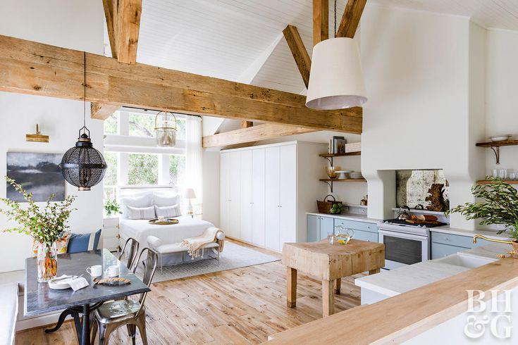 See How This Overlooked Garage Attic Transformed Into A Dreamy Guest Loft Garage Apartment Interior Apartment Renovation Garage Apartments