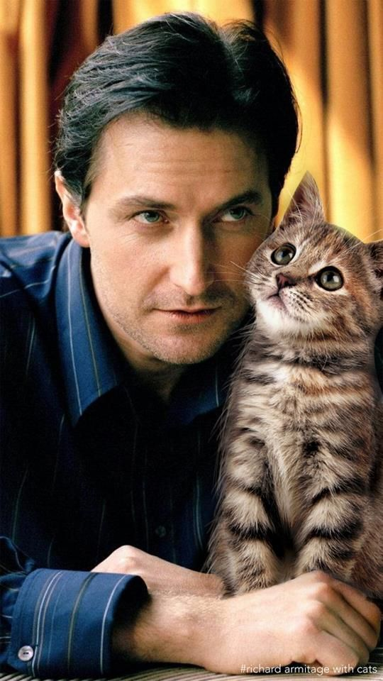 Richard Armitage Appreciation Society a man that loves animals? So adorable. Esp since it's Richard