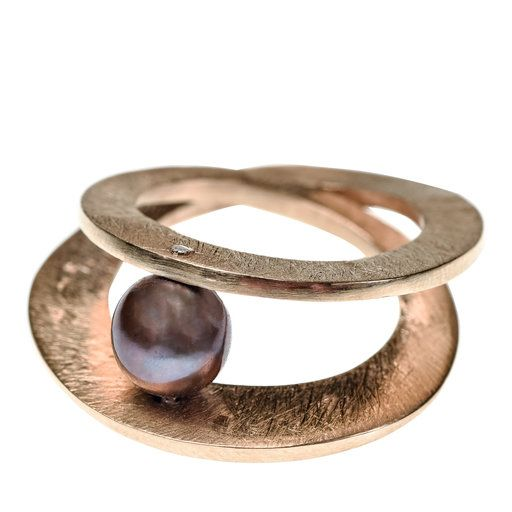Jazz Bronze and Pearl Ring - Shop rings from Italy's Best Artisans: fine jewelry handcrafted in Italy - Fine Jewelry from Italy's Best Artisans - Artemest