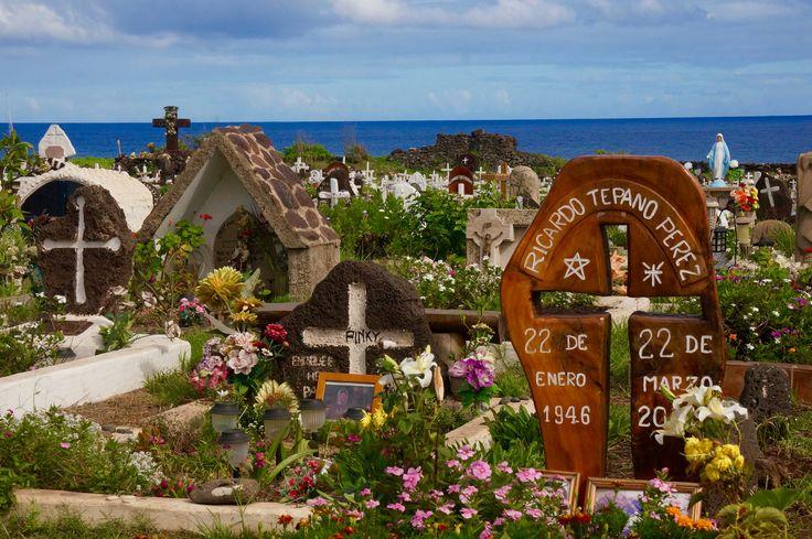 Cimetière d'Hanga Roa, 'île de Pâques / Hanga Roa cemetery, Easter island