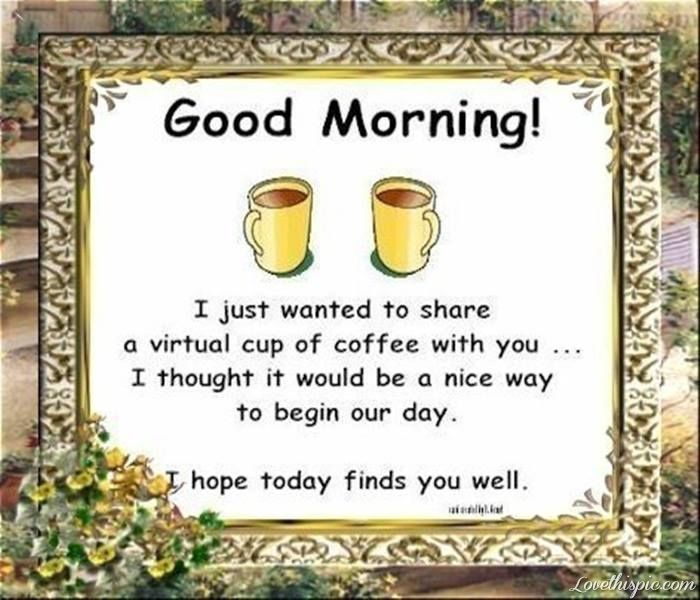 Good Morning Pics For Pinterst Good Morning Pictures Photos And