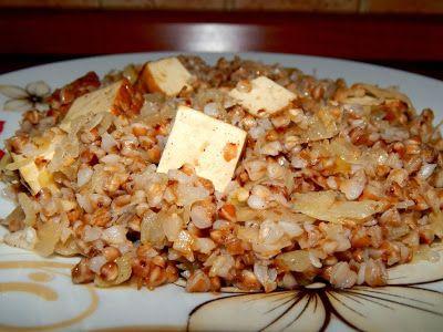 """Pohanka s uzeným tofu a kyselým zelím + """" škvarková """" pomazánka ~ KARIZÓNA - VEGANSKÉ RECEPTY"""
