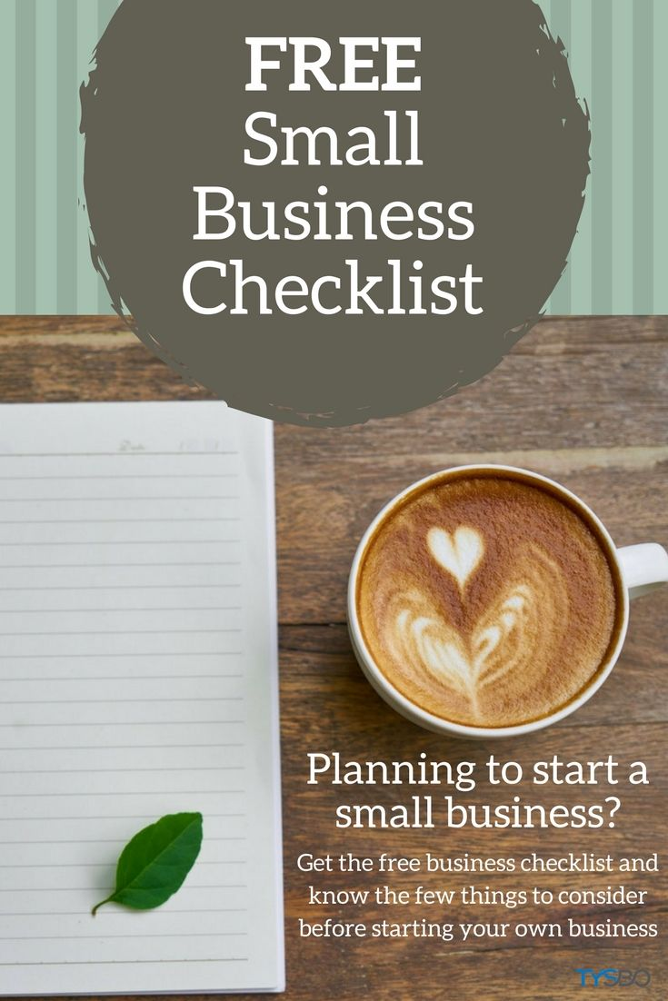 Know the things to consider before starting your own small business. Get this checklist for FREE!