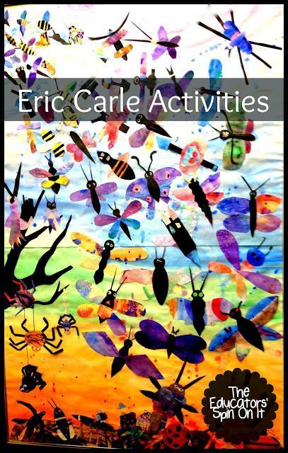 100+ Eric Carle Activities for Kids for Spring plus resources about the author Eric Carle from The Educator's Spin On It #EricCarle #Activities #Kids #eduspin #insecttheme #preschool #kindergarten