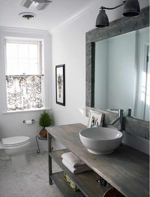 Cool vanity ideas for your small bathroom calfinder for Gray rustic bathroom