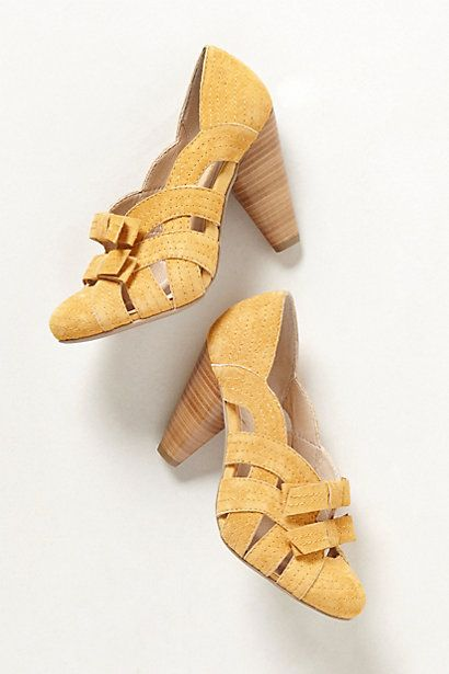 If i had any reason (or budget) to buy another pair of shoes, here they are... Evelina Heels  #anthropologie