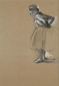 EDGAR DEGAS Standing Dancer Fastening Her Sash, 1873 Gouache on paper The Ronald S. Lauder Collection, New York