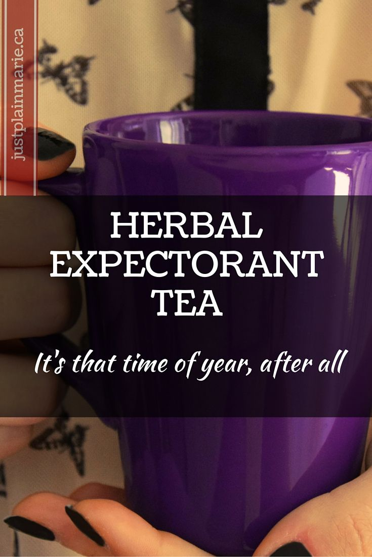Safe, delicious herbal tea with expectorant properties to bring out a phlegmy cough.