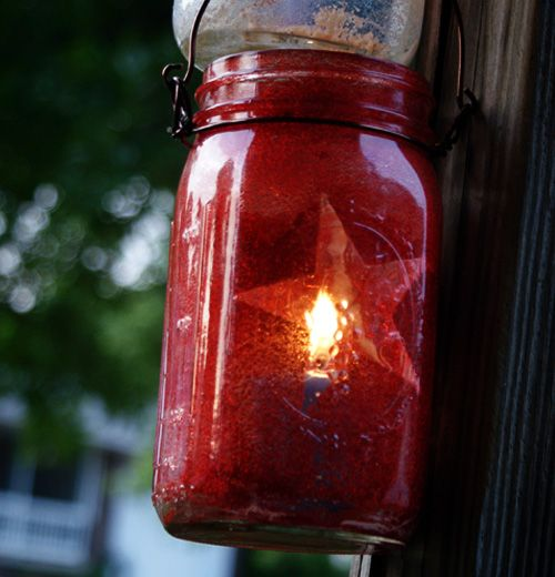 Mason Jar Lantern tutorial.  I want to make these for a wedding using hearts and iridescent glitter.