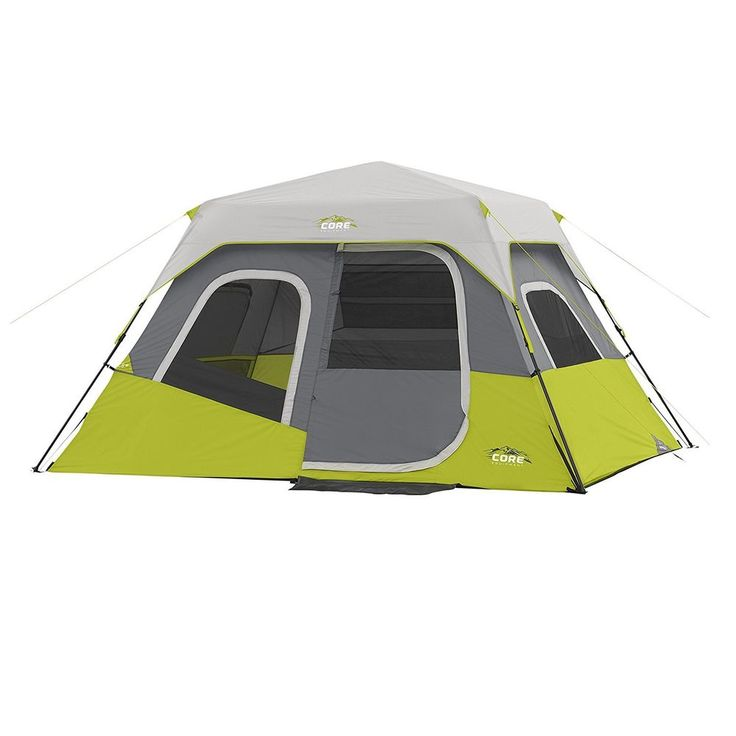 6 Person Instant Cabin Tent 11' X 9' Rain Fly Tent Stakes And Carry Bag #CORE #Cabin