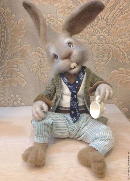 Игрушки животные, ручной работы. Ярмарка Мастеров - ручная работа. Купить Мартовский заяц из Алисы. Handmade. Мартовский заяц