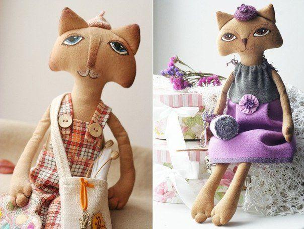 Мягкие игрушки своими руками. Кошечка