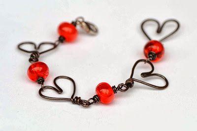 Be my Valentine lampwork bracelet