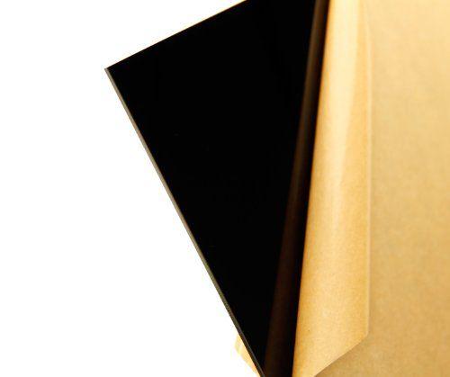 "Cast Acrylic Sheet, Translucent Black, 12"" X 12"" X 0.118"" Size, 2015 Amazon Top Rated Plastics #BISS"