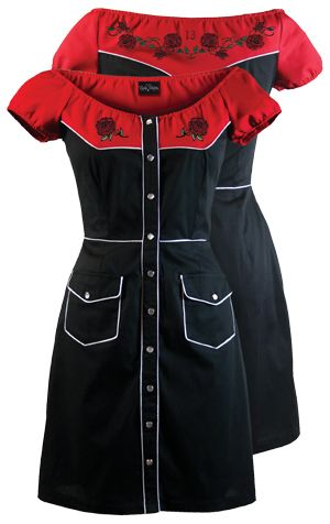 Cute western style dress! Needs a little lengthening though....