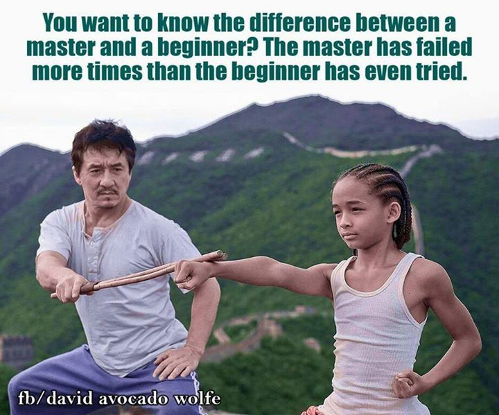 The difference between a Master and a student /David Avocado Wolfe / image: from the Karate Kid remake with Jackie Chan and Jayden Smith