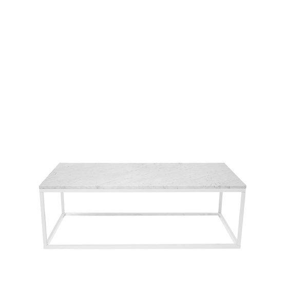 Soffbord 11 - Soffbord 11 - marmor vit, vitlackat stativ