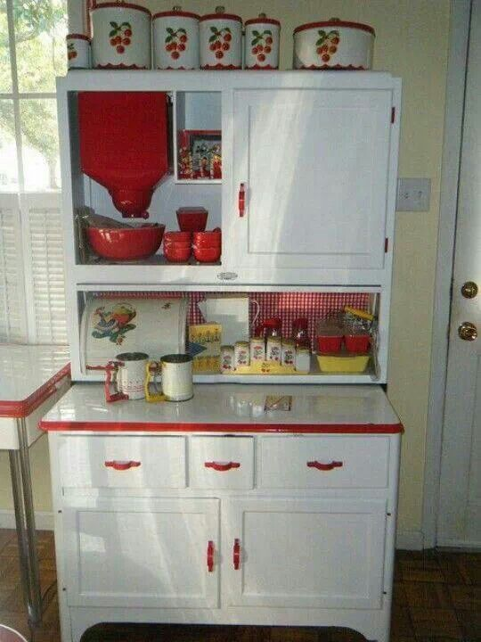 Kitchen Cabinet just like this was at my Granny's house…oh the biscuits. :)))…loving hand made