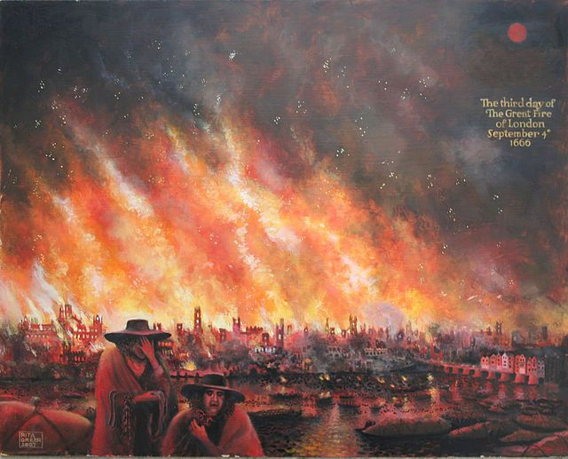 The 3rd day of The Great Fire of London 1666