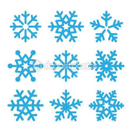płatki śniegu niebieski wektor zestaw ikon — Ilustracja stockowa #48839331