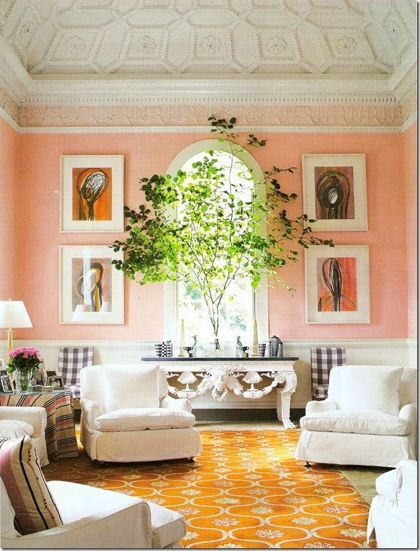 Beautiful pink room from Bellamont Forest, a beautiful private house in Ireland