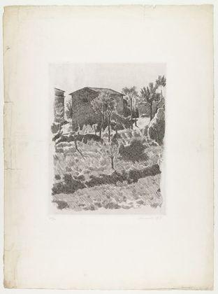 Georgio Morandi, Hillside in the Morning, 1927, probably printed c. 1942