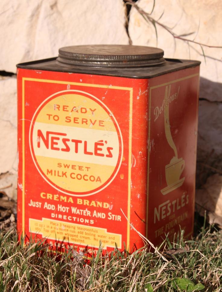 Nestlé Sweet Cocoa.  Impresionante lata de años años 60