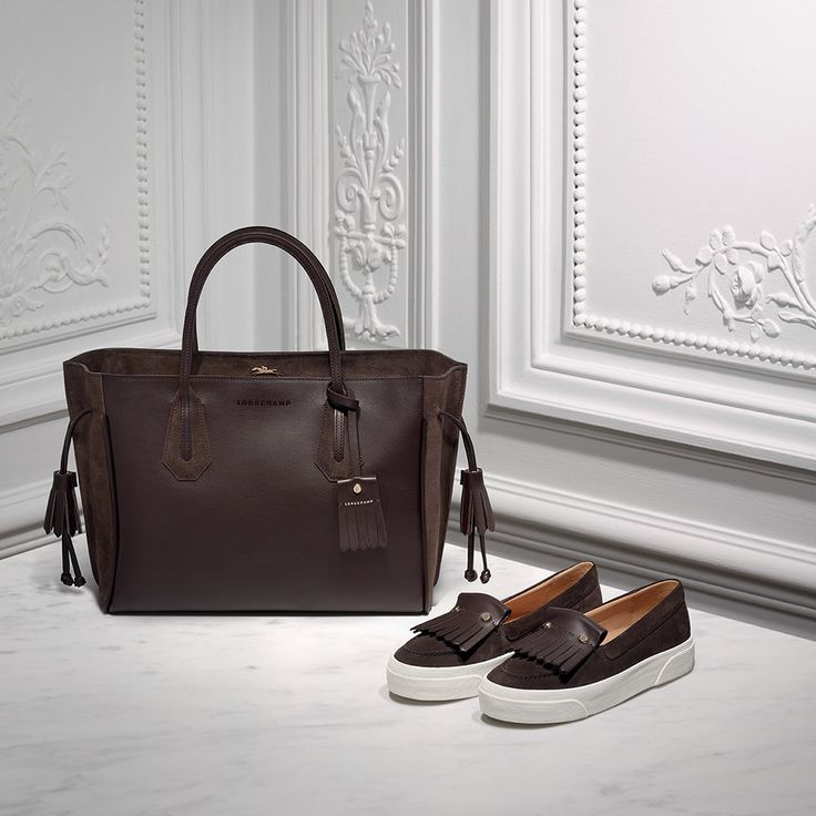 Chic on chic! Pair the Pénélope Fantaisie tote and loafers for a casual yet elegant ensemble.