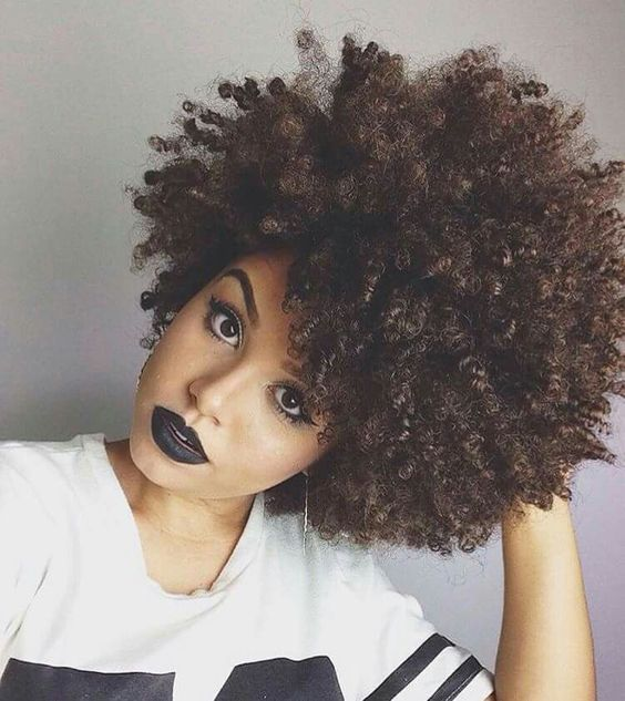 Short and Curly. Achieve this look with Brazilian Curly.