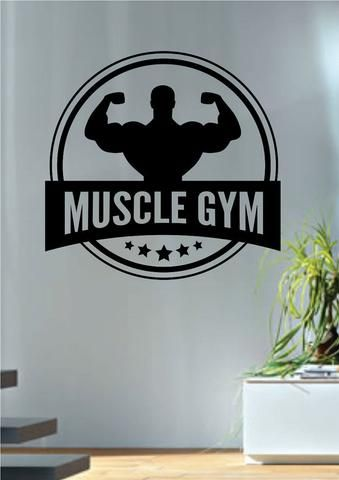 Wall Vinyl Art 13 best gym images on pinterest | gym fitness, removable wall and