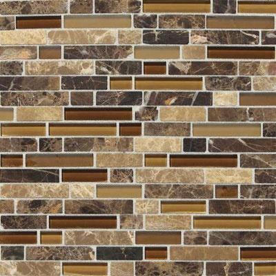 Daltile Stone Radiance Mosaic Butternut Emperador Blend