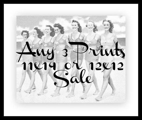 Sale Beach Photography Any 3 11x14 or 12x12 Prints by VintageBeach, $111.00