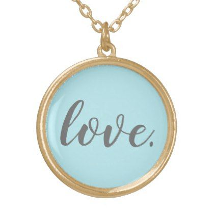 Love Is All You Need Necklace  $30.00  by whitdiaz  - cyo diy customize personalize unique